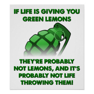 Poster engraçado dos limões verdes