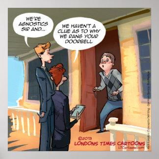 Poster engraçado dos missionários agnósticos