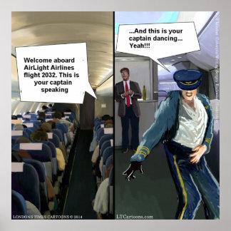 Poster engraçado piloto do hipster