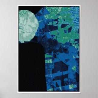 Poster enluarada da arte abstracta