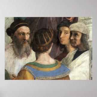 Póster Escola de Atenas por Raphael, renascimento do