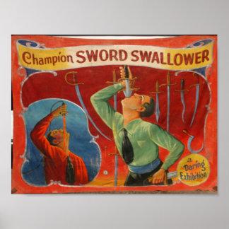Poster Espada Swallower do campeão
