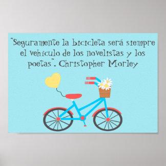 Poster espanhol das citações de Christopher Morley