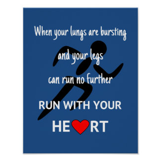 Póster Esporte inspirador das citações do corredor