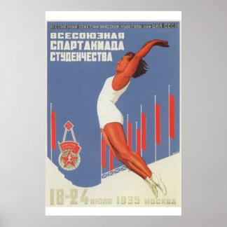 Póster Esporte soviético