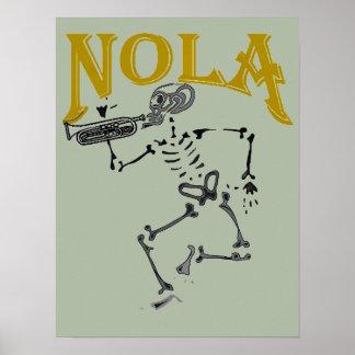 Poster Esqueleto de NOLA com chifre