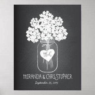 Poster estabelecido família do casamento do frasco