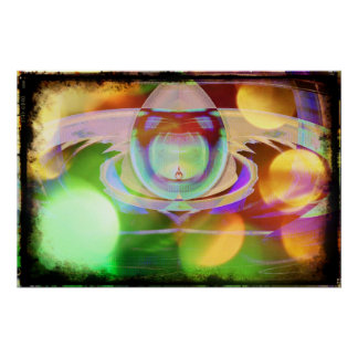 Poster estrangeiro do abstrato do Scifi da nave es Pôster