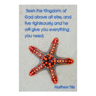 Póster Estrela do mar do 5:16 de Matthew