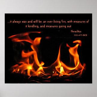Poster eterno do fogo de Heraclitus Pôster