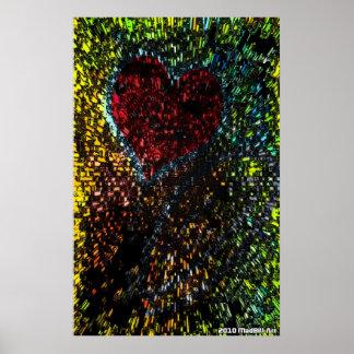Póster Explosão do coração