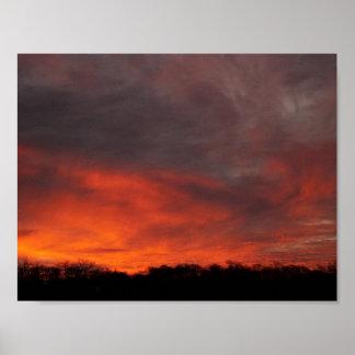 Poster Explosão do por do sol da cor