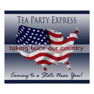 Poster expresso do tea party