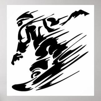 Poster extremo do esporte da snowboarding pôster
