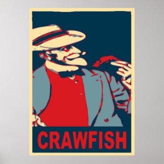 Poster farpado do homem dos lagostins
