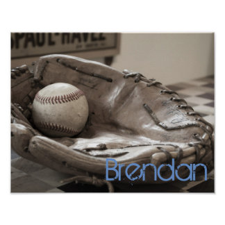 Poster feito sob encomenda da foto do basebol do