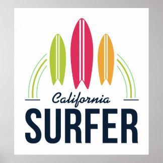 Poster feito sob encomenda do surfista do lugar