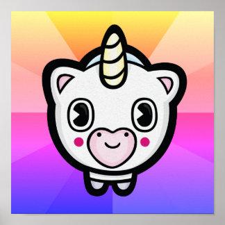 Poster feliz da explosão de cor de Emoji do