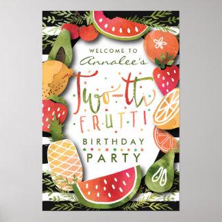 Poster Festa de aniversário da fruta do SINAL DE