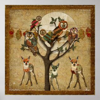 Poster floral da festividade da floresta das joven