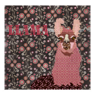 Poster floral do vintage cor-de-rosa de Brown do l
