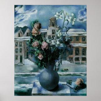 Poster floral ou impressão das belas artes