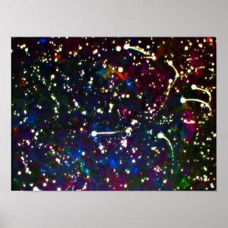 Póster Fogos-de-artifício estrelados