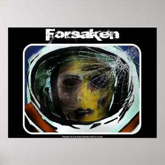 """Poster """"Forsaken"""" do astronauta do zombi"""