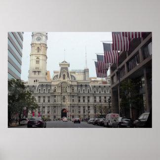 Póster Foto de Philadelphfia da câmara municipal