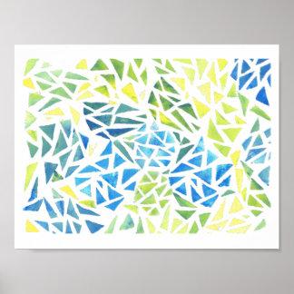 Poster [fraturado] da arte abstracta