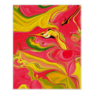 Poster Funky da arte abstracta