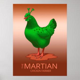 Poster Galinha amarela da galinha de Orpington