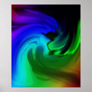 """Poster """"gás"""" abstracto de cores"""
