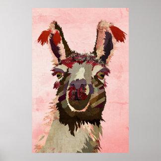 Poster gasto violeta da arte do lama