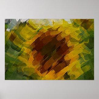Poster girassol abstracto