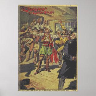 """Poster """"Goldlace do livro do vintage o esporte Pôster"""