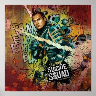 Poster Grafites do caráter do pelotão | Slipknot do