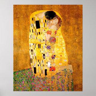 "Poster Gustavo Klimt ""o beijo """