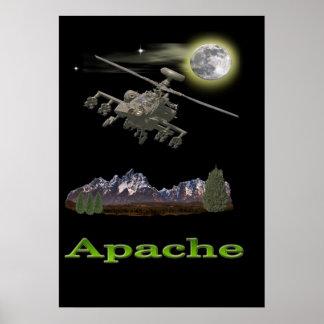 Póster Helicóptero de Apache