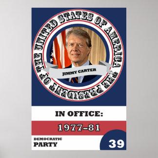 Póster História presidencial de Jimmy Carter retro