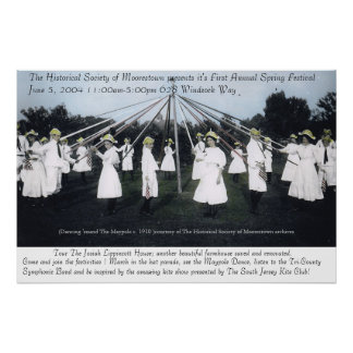 Poster histórico da foto do Maypole