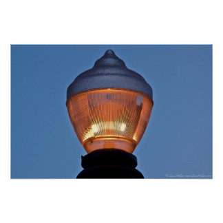 Poster histórico da lâmpada de rua do distrito de