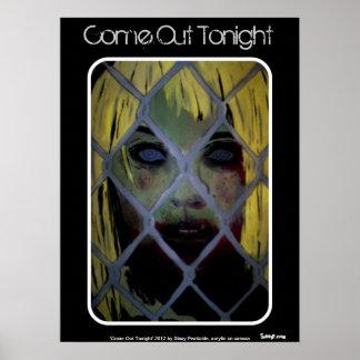 """"""""""" Poster hoje à noite saído (do zombi) Pôster"""