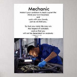Póster Honre a educação de trades-MECHANIC-1-career
