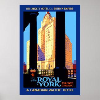 Poster Hotel real Toronto Canadá de York das viagens
