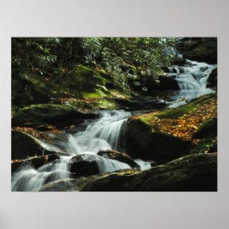 Poster idílico da foto da cachoeira