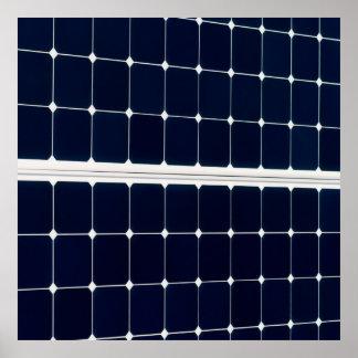 Póster Imagem de um painel de energias solares engraçado