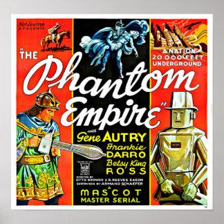 Poster Império do fantasma do robô da ficção científica