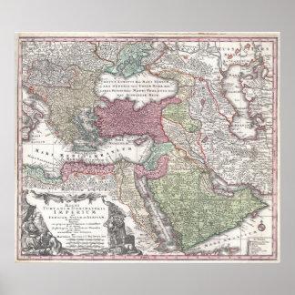 Póster Império otomano 1730