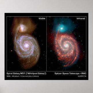 Poster/impressão   da galáxia do redemoinho da gal
